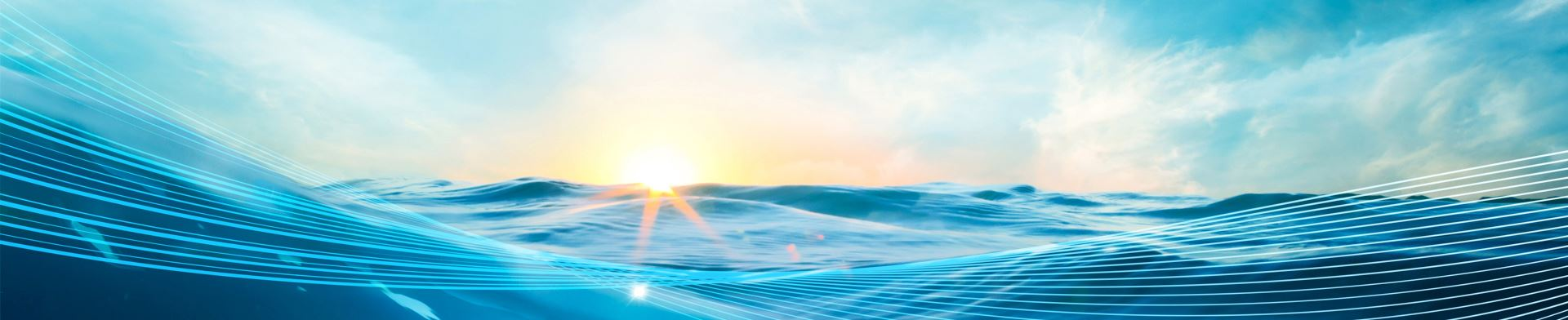 網頁背景為海浪風景