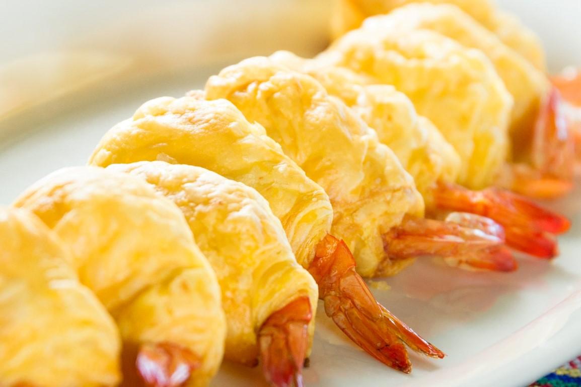 烤白蝦酥皮捲