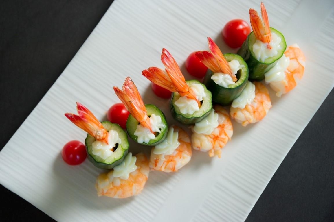 白蝦鑲寶黃瓜