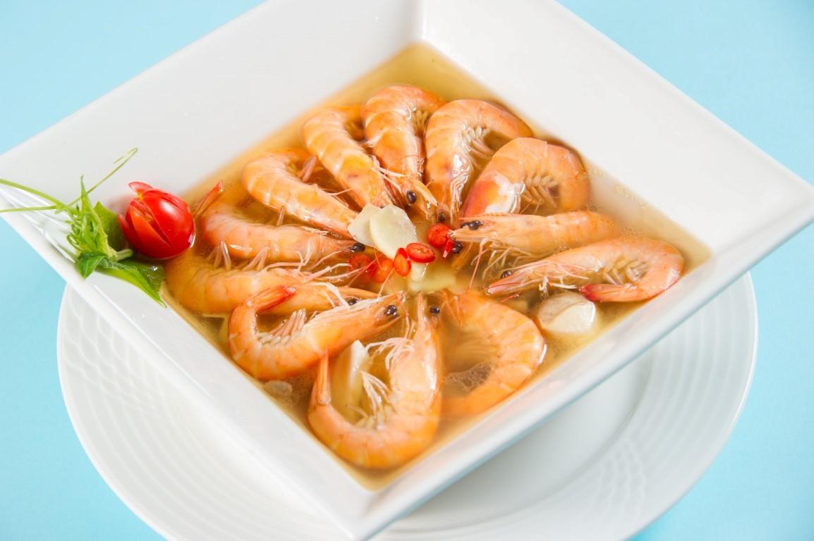 麻油炒白蝦