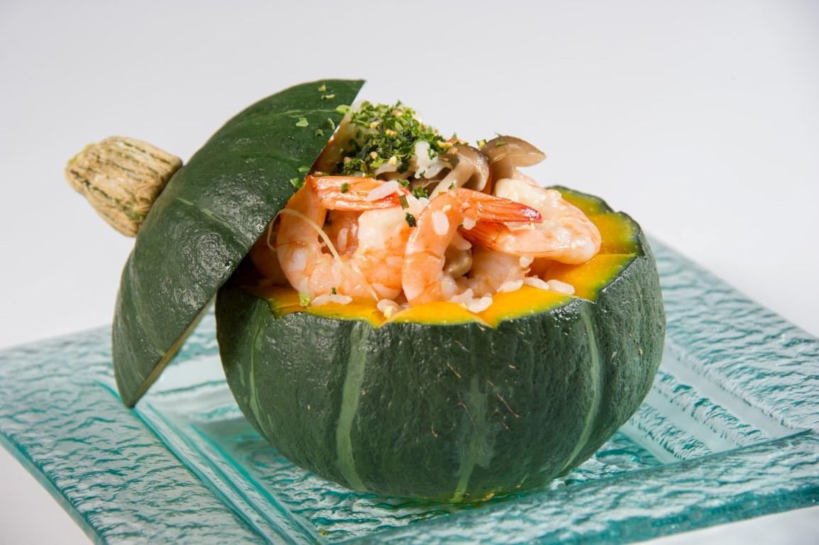 白蝦南瓜燉飯